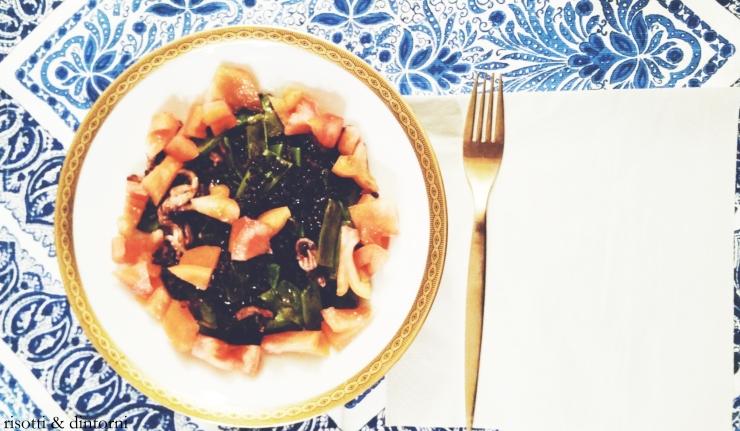 risotti & dintorni riso venere taccole calamari pomodoro