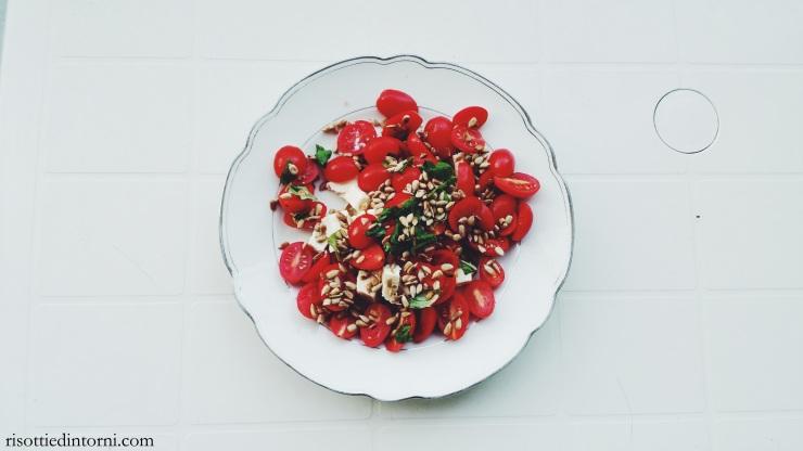 risotti e dintorni - datterini feta basilico semi di girasole tostati