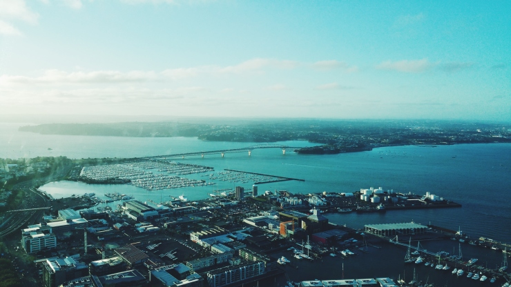 auckland, new zealand, nuova zelanda, sky tower, view, panorama, baia