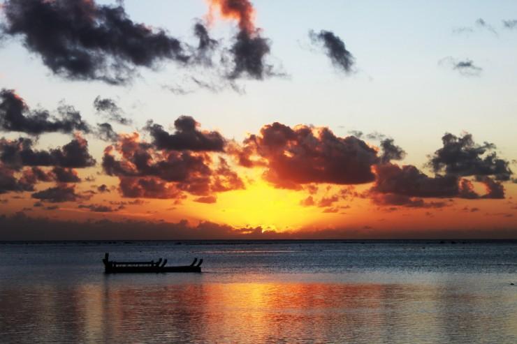 risotti e dintorni, isole cook, cook islands, honeymoon, luna di miele, tramonto, sunset, mare, sea