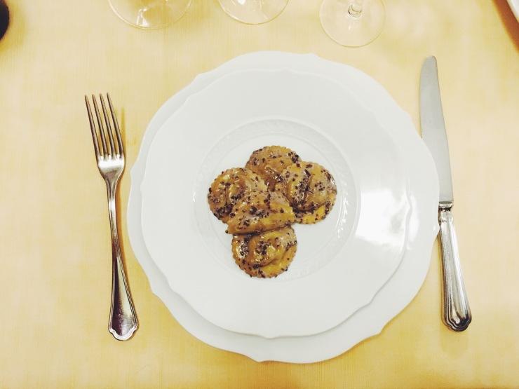 risotti e dintorni trattoria campanini cena tortelli radicchio parma busseto